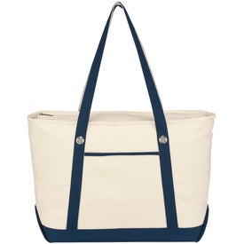 Personalized Large Cotton Canvas Sailing Tote