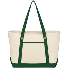 Branded Large Cotton Canvas Sailing Tote