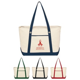 Large Cotton Canvas Sailing Tote Bag
