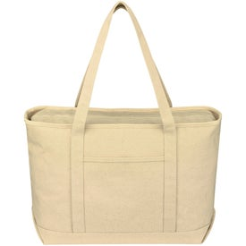 Custom Large Cotton Canvas Yacht Tote
