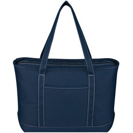 Large Cotton Canvas Yacht Tote Imprinted with Your Logo