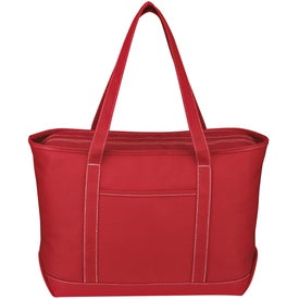 Large Cotton Canvas Yacht Tote for your School