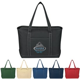 Large Cotton Canvas Yacht Tote for Your Organization