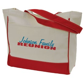 Large Cotton Tote Imprinted with Your Logo