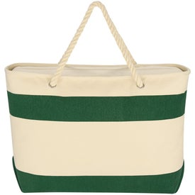 Monogrammed Large Cruising Tote Bag with Rope Handles
