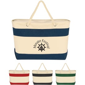 Personalized Large Cruising Tote Bag with Rope Handles
