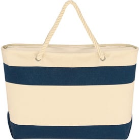 Printed Large Cruising Tote Bag with Rope Handles
