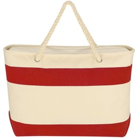 Large Cruising Tote Bag with Rope Handles Imprinted with Your Logo