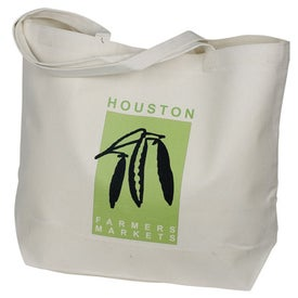 Large Gusset Tote Imprinted with Your Logo
