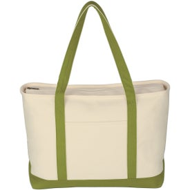Large Heavy Cotton Canvas Boat Tote Bag for Your Church