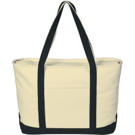 Customized Large Heavy Cotton Canvas Boat Tote Bag