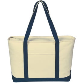 Logo Large Heavy Cotton Canvas Boat Tote Bag