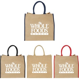 Large Jute Tote Bag