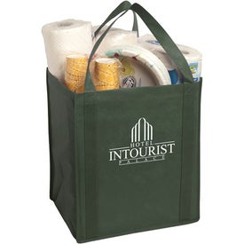 Large Non-Woven Grocery Tote Bag Imprinted with Your Logo