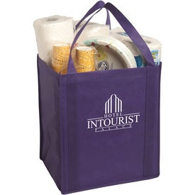 Personalized Large Non-Woven Grocery Tote Bag