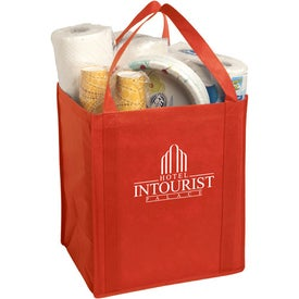 Imprinted Large Non-Woven Grocery Tote Bag
