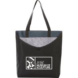 Layer Pocket Non-Woven Convention Tote Bag