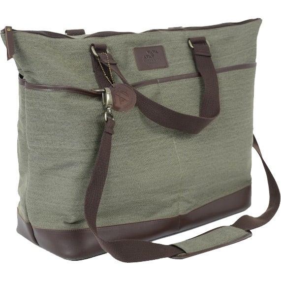 Olive Leather Relaxed Travel Bag