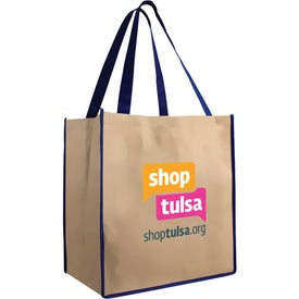 Large Brown Bag Tote Branded with Your Logo