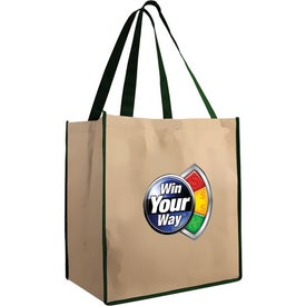 Large Brown Bag Tote for Customization