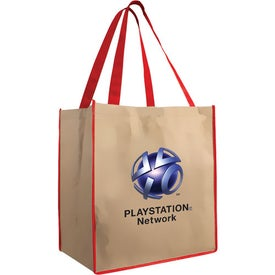 Large Brown Bag Tote for Marketing