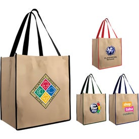 Large Brown Bag Tote with Your Logo