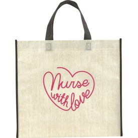 Linen Finish Laminated Non-Woven Tote Bag