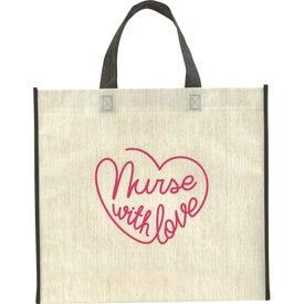 Linen Finish Laminated Non-Woven Tote Bag