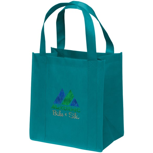 Teal Sparkly Little Thunder Tote Bag