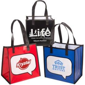 Logo-Burst Shopper Tote Bag