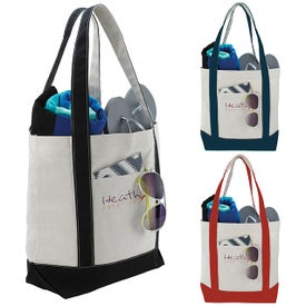 Marina Tote Bags (White/Black, White/Red, and White/Navy)