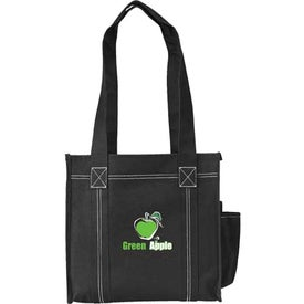 Branded Double Stitch Tote Bag