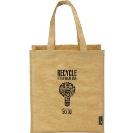Matte Laminated Grocers Brown Bag Tote for Marketing