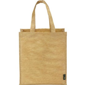 Matte Laminated Grocers Brown Bag Tote Branded with Your Logo