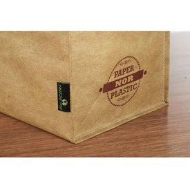 Advertising Matte Laminated Grocers Brown Bag Tote
