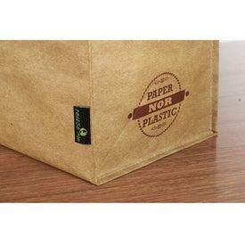 Advertising Matte Laminated Grocers Brown Bag Tote