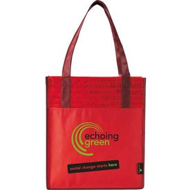 Matte Laminated Non-Woven Welcome Convention Tote Bag for Your Organization