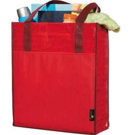 Matte Laminated Non-Woven Welcome Convention Tote Bag Printed with Your Logo