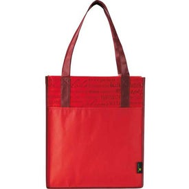 Logo Matte Laminated Non-Woven Welcome Convention Tote Bag