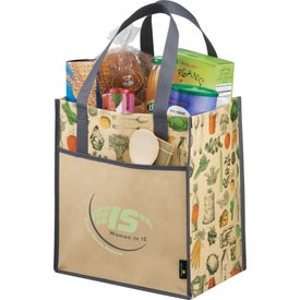 Matte Laminated Non-Woven Vintage Grocery Tote Bag for Your Church