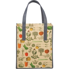 Matte Laminated Non-Woven Vintage Grocery Tote Bag with Your Slogan
