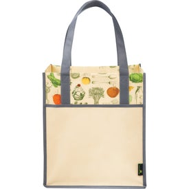 Branded Matte Laminated Non-Woven Vintage Grocery Tote Bag