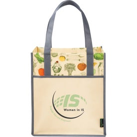 Matte Laminated Non-Woven Vintage Grocery Tote Bag for Your Organization