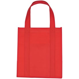 Matte Laminated Non Woven Shopper Tote Bag Branded with Your Logo