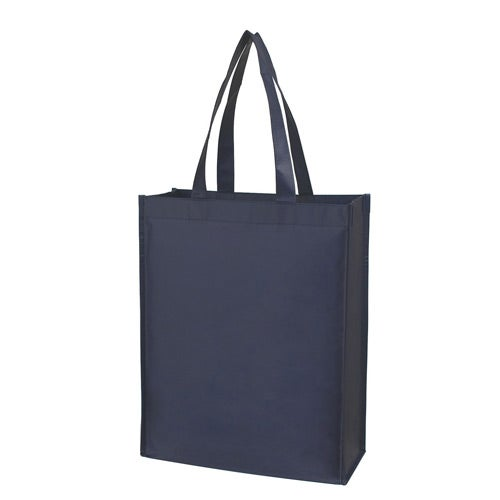 Matte Navy Matte Laminated Non-Woven Shopper Tote Bag