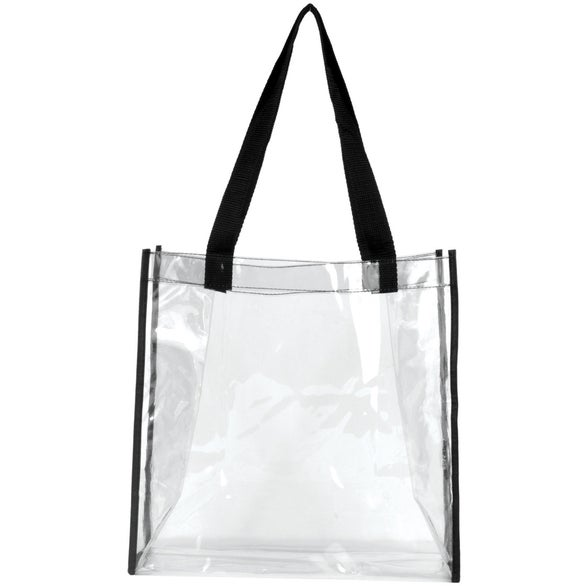 Clear / Black Matterhorn Clear Vinyl Stadium Compliant Tote Bag