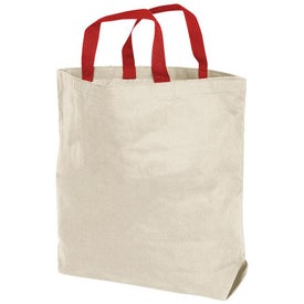 Branded Maxi Tote Bag - Natural Canvas
