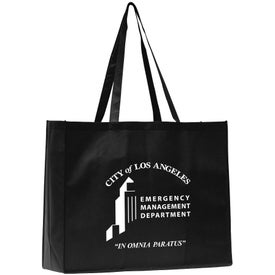 May Polytex Large Grocery Tote Bag Imprinted with Your Logo