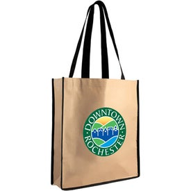 Medium Brown Bag Tote Printed with Your Logo