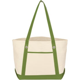 Imprinted Medium Cotton Canvas Sailing Tote